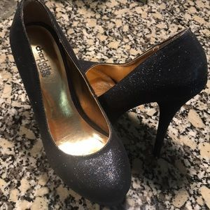 Blue Charlotte Russe Glitter Heels